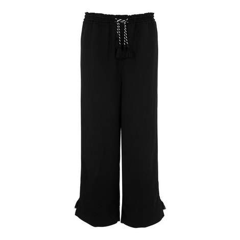 Tassel Trim Cropped Trousers, ${color}
