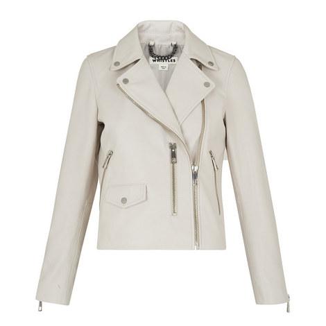 Agnes Leather Biker Jacket, ${color}