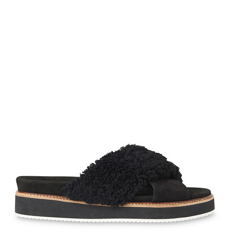 Alie Shearling Slides, ${color}