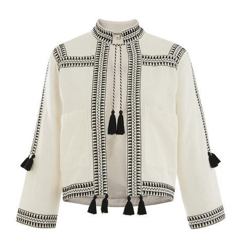Tassel Trim Jacket, ${color}