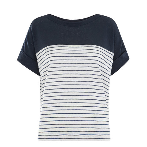Breton Stripe Linen T-Shirt, ${color}