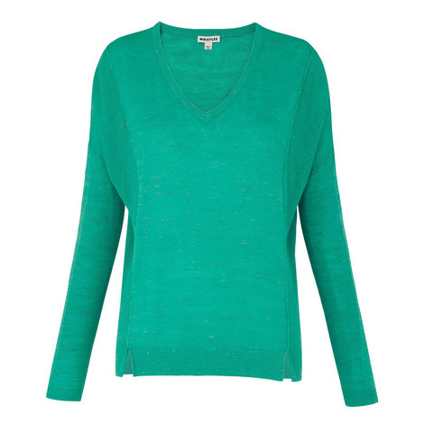 Relaxed V-Neck Knit, ${color}