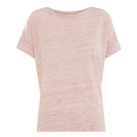 Bateau Cuffed Linen T-Shirt, ${color}