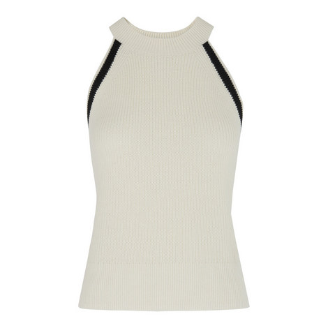Contrast Trim Knit Vest, ${color}