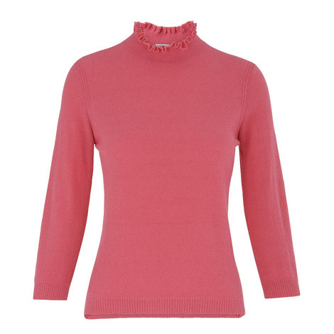 Ruffled Collar Knit, ${color}