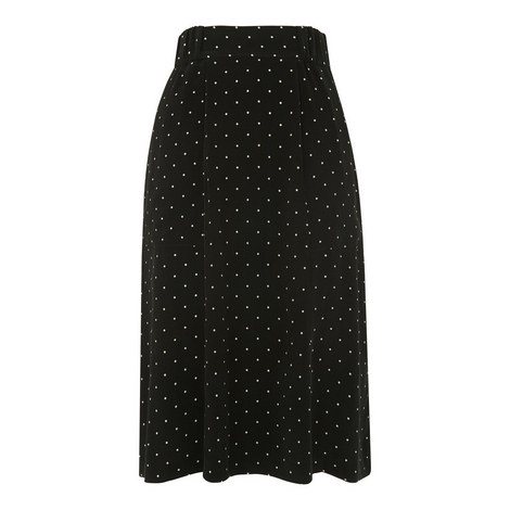 Pin Dot Straight Fit Skirt, ${color}