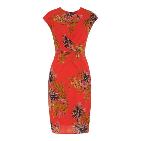 Cactus Print Bodycon Dress, ${color}