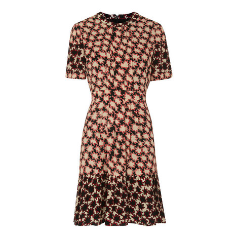 Star Print A-Line Dress, ${color}