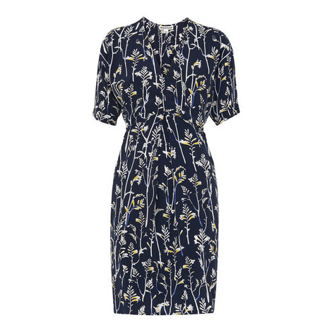 Josie Wheatsheaf Print Dress, ${color}