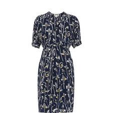 Josie Wheatsheaf Print Dress