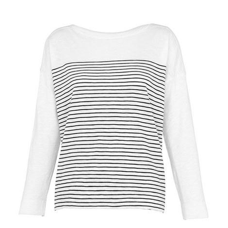 Bateau Neck Striped T-Shirt, ${color}