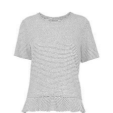 Frilled Stripe T-Shirt