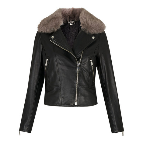 Toscana Collar Leather Jacket, ${color}