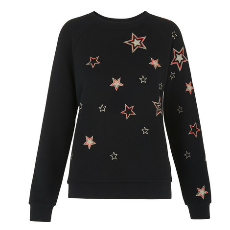Scatter Star Embroidered Sweatshirt, ${color}