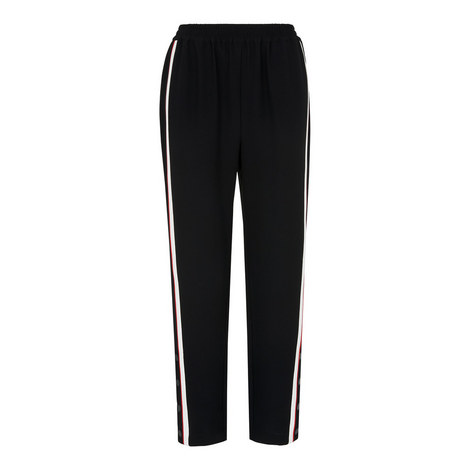 Popper Side Stripe Trousers, ${color}