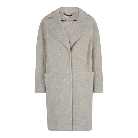 Dara Brushed Wool Cocoon Coat, ${color}
