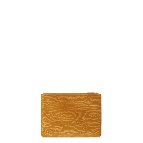 Woodcut Velvet Clutch, ${color}