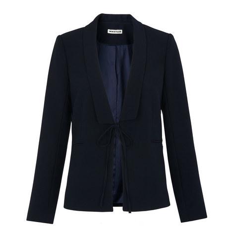 Tie-Front Blazer, ${color}