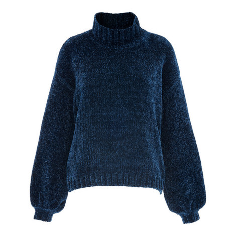 Chenille Funnel Neck Knit, ${color}