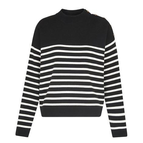 Breton Stripe Button Knit, ${color}