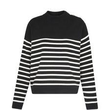 Breton Stripe Button Knit