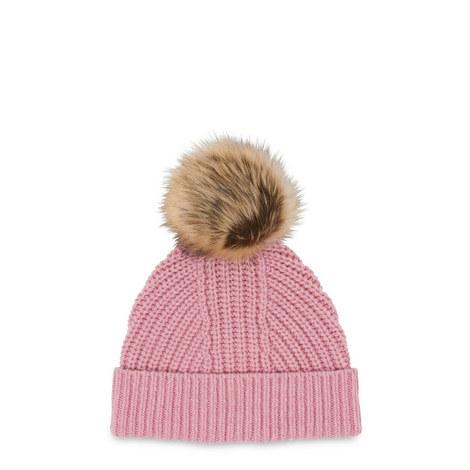 Pom Pom Knit Hat, ${color}