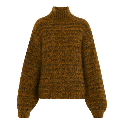 Textured Funnel Neck Knit, ${color}