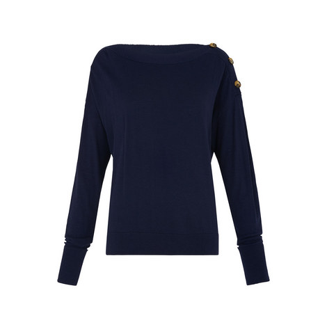 Buttoned Boat Neck Knit, ${color}