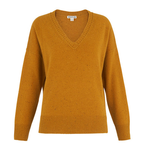 Cashmere V-Neck Knit, ${color}