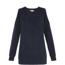 Cold-Shoulder Mohair Knit