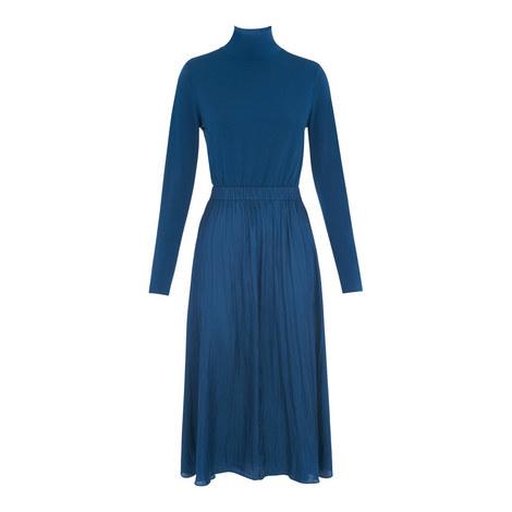 Tami Jersey-Mix Dress, ${color}