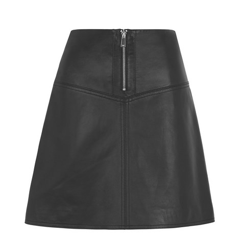 Jessie Leather Skirt, ${color}