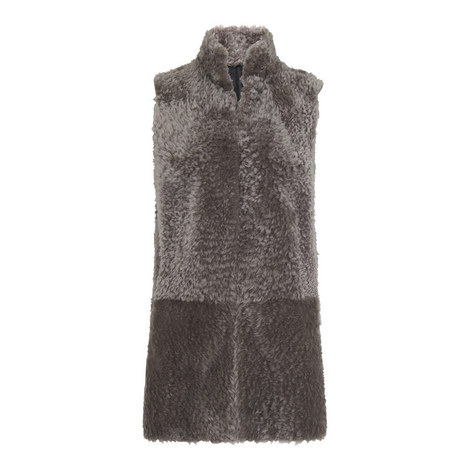 Textured Longline Gilet, ${color}