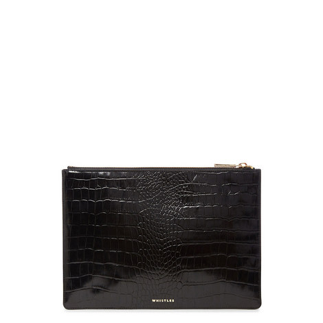 Shiny Croc Clutch Medium, ${color}