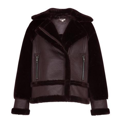Mix Faux Fur Jacket, ${color}