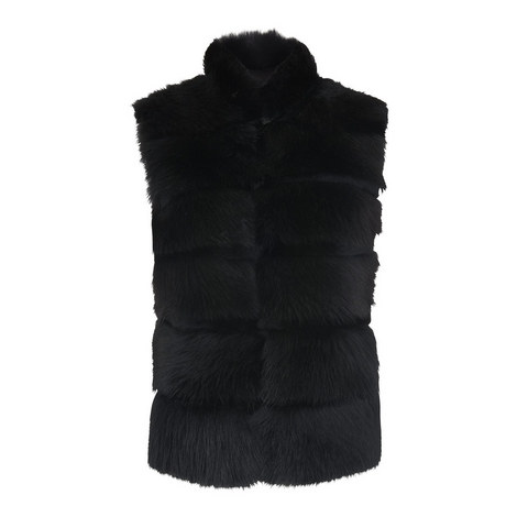 Chevron Sheepskin Gilet, ${color}