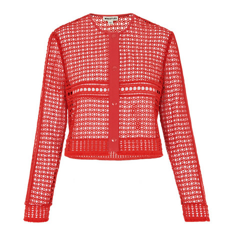 Boxy Broderie Anglaise Jacket, ${color}