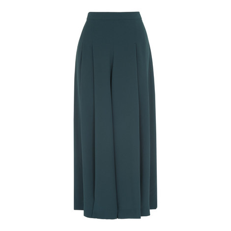 Pleated Wide Leg Culottes, ${color}