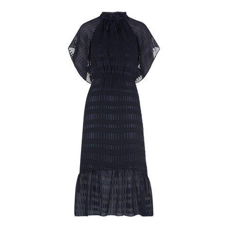 Tina Textured Cold-Shoulder Dress, ${color}