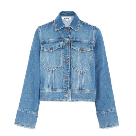 Wide Sleeve Denim Jacket, ${color}