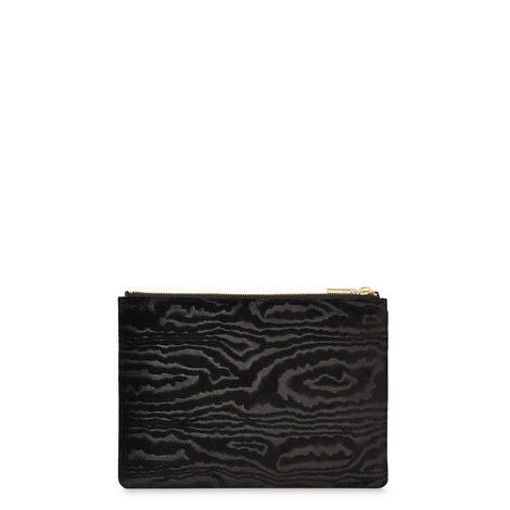 Woodcut Velvet Clutch Medium, ${color}