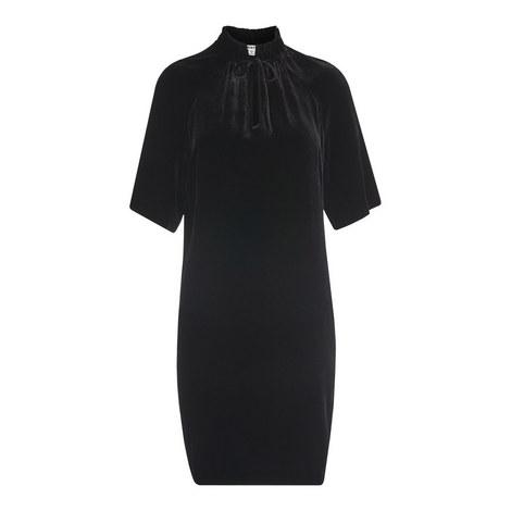 Tie Neck Velvet Dress, ${color}