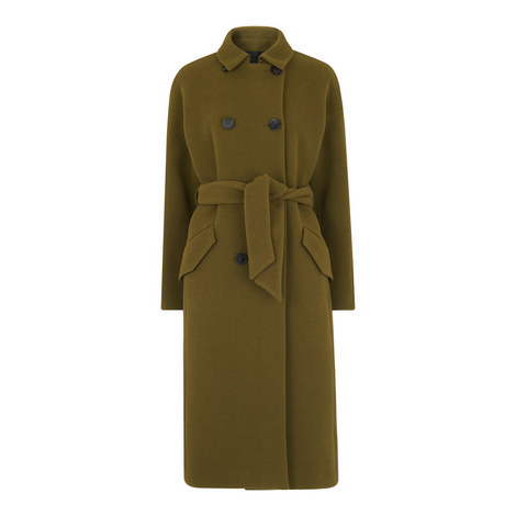 Alicia Sash-Tie Double Breasted Coat, ${color}