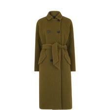 Alicia Sash-Tie Double Breasted Coat
