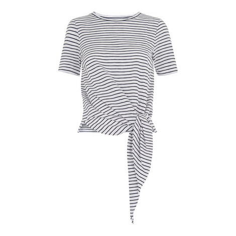 Stripe Side Tie T-Shirt, ${color}