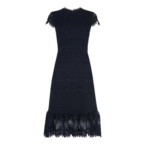 Niki Eyelash Lace Dress, ${color}
