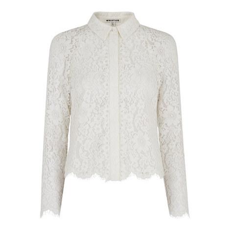 Suzie Cropped Lace Shirt, ${color}