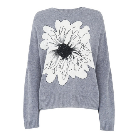 Floral Intarsia Knit, ${color}