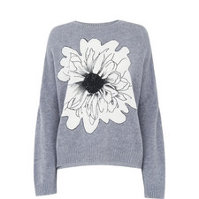 Floral Intarsia Knit