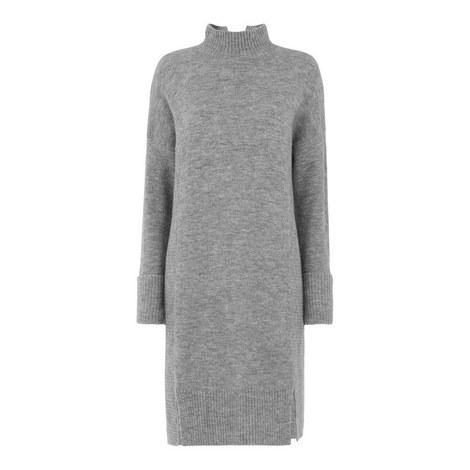 Funnel Neck Knit Dress, ${color}